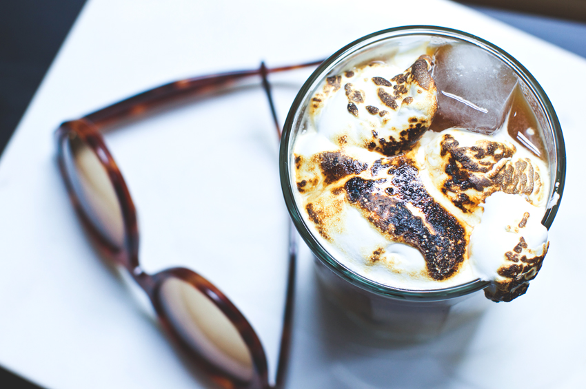roasted-marshmallow-on-top-of-an-iced-latte