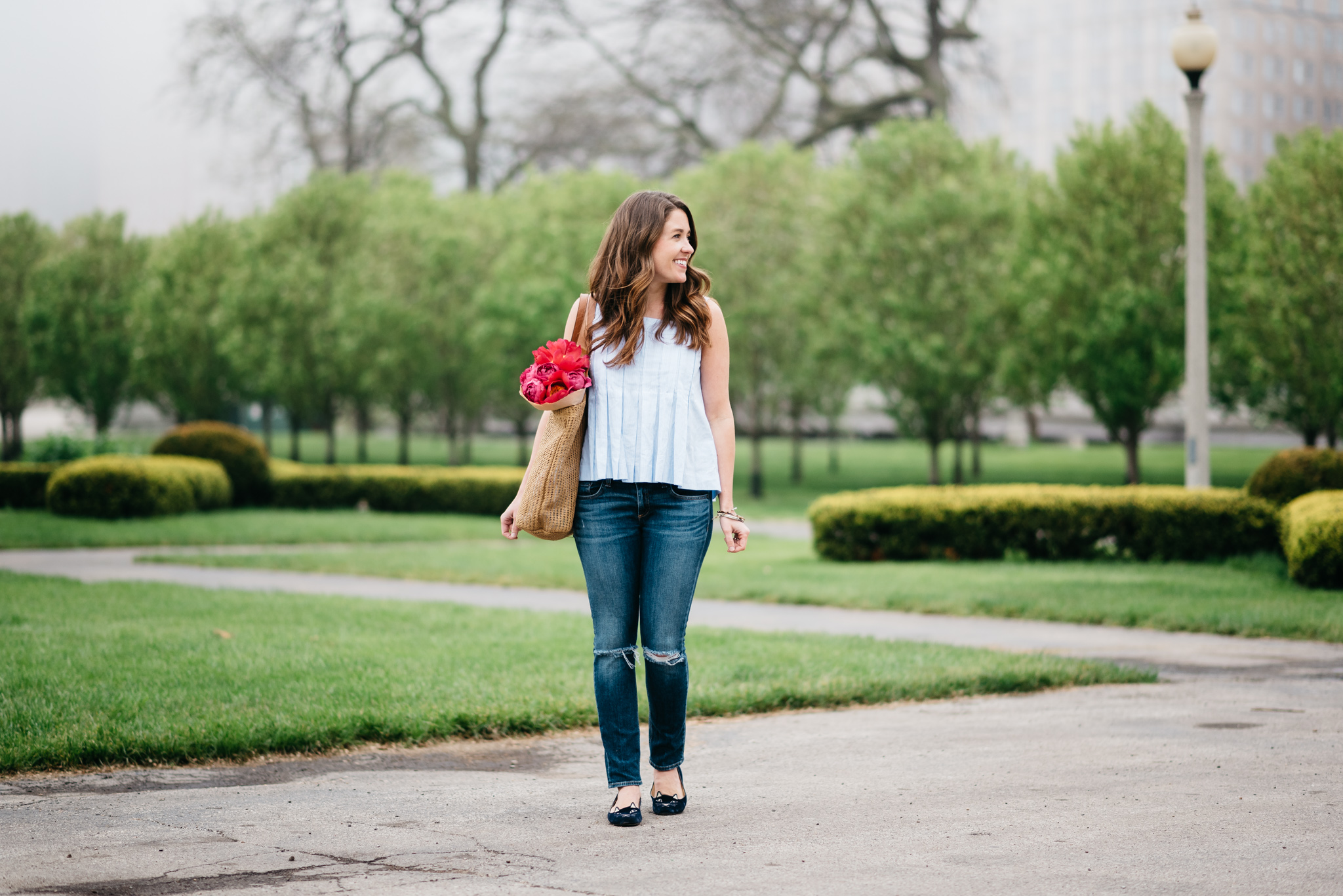 rag & bone jeans and club monaco top in chicago