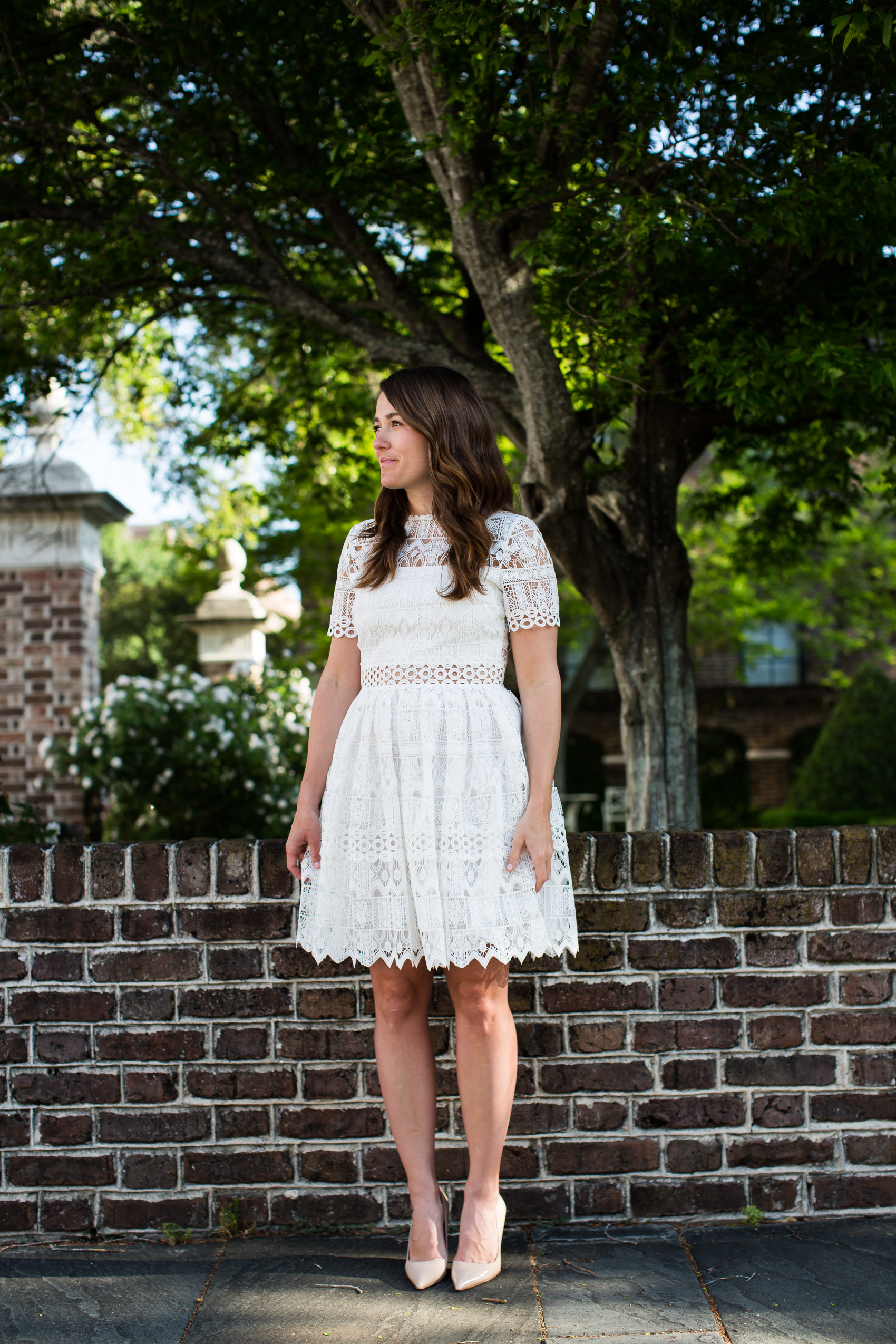 days in Charleston wearing Alexis white lace dress (15 of 19)