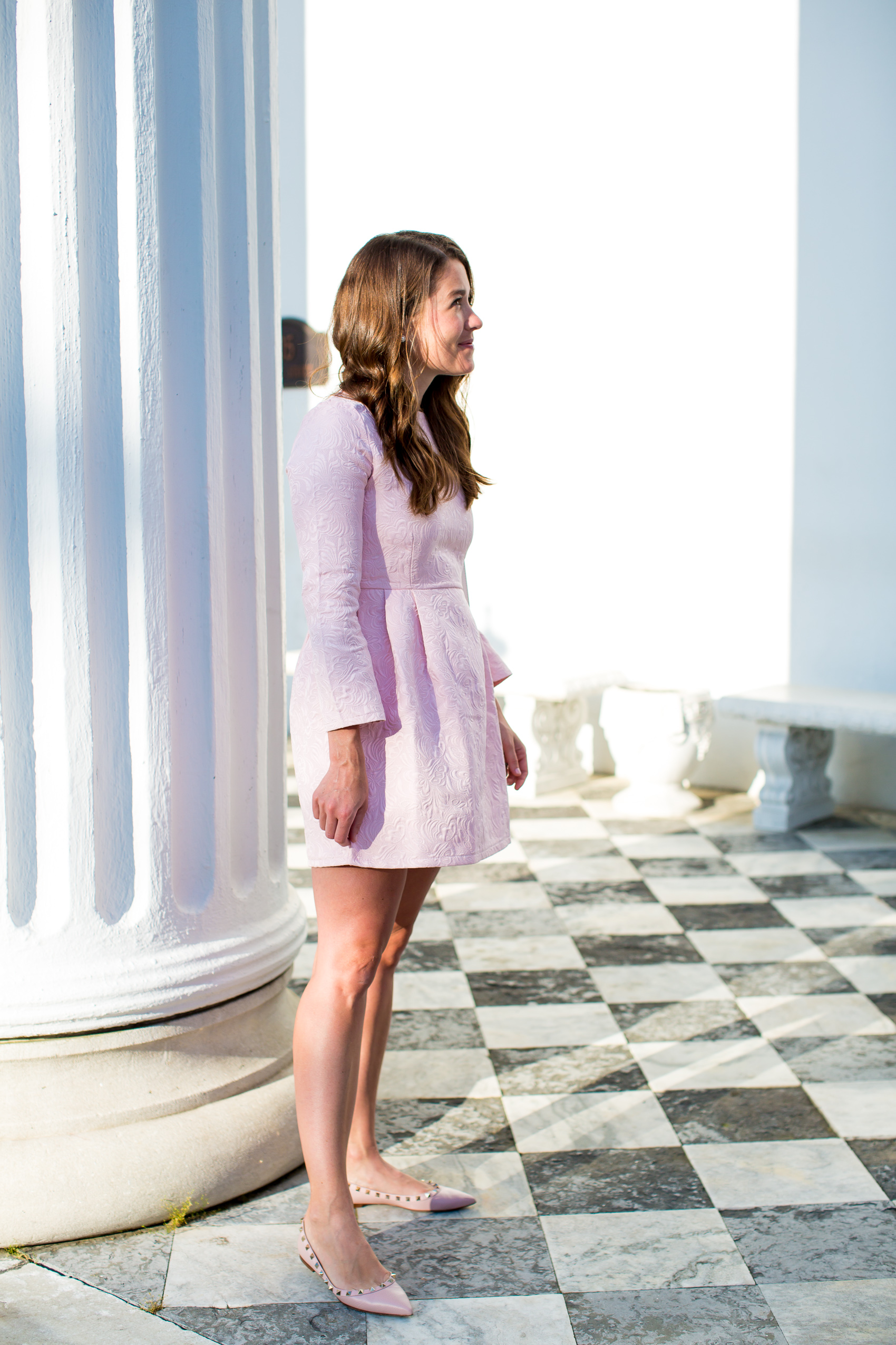 chicwish dress and valentino flats in charleston