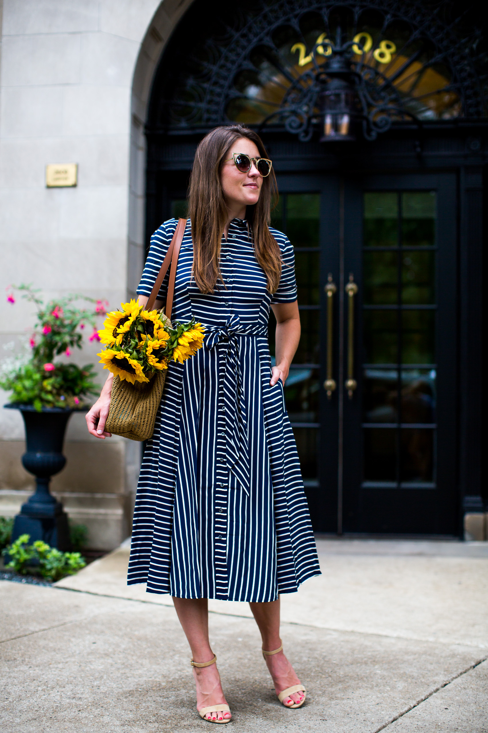 jcrew striped midi dress (6 of 19)