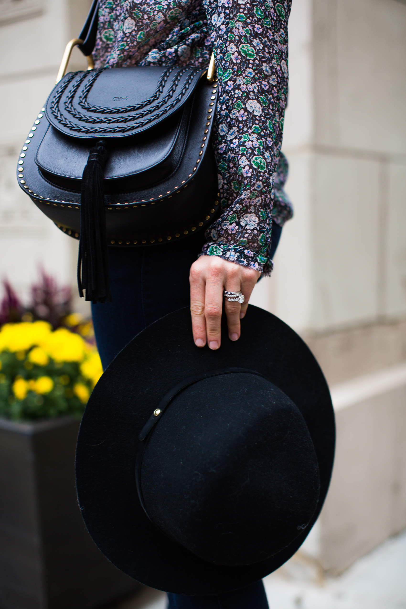 chloe hudson bag and rag and bone hat