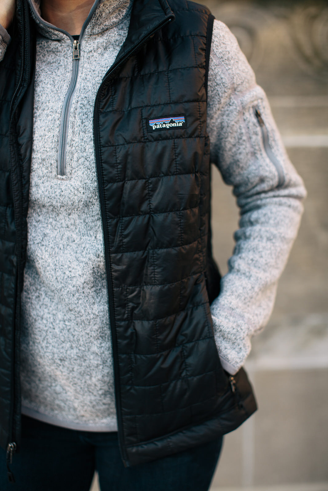patagonia vest and better sweater for her