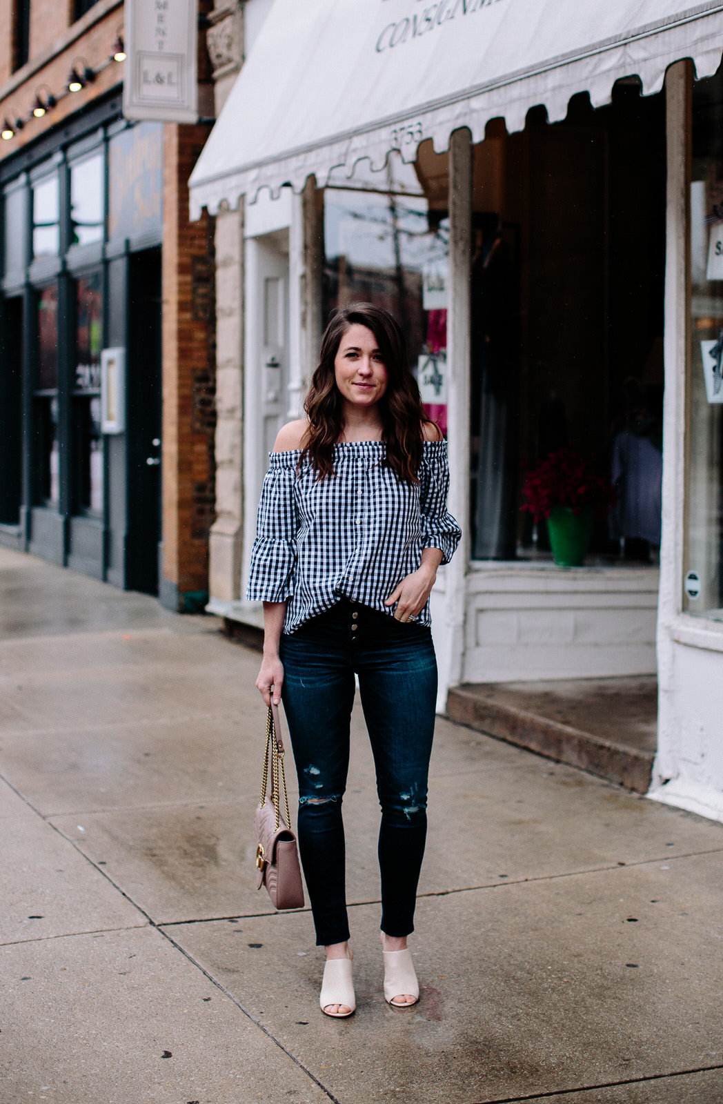 gingham top for spring (1 of 8)-1
