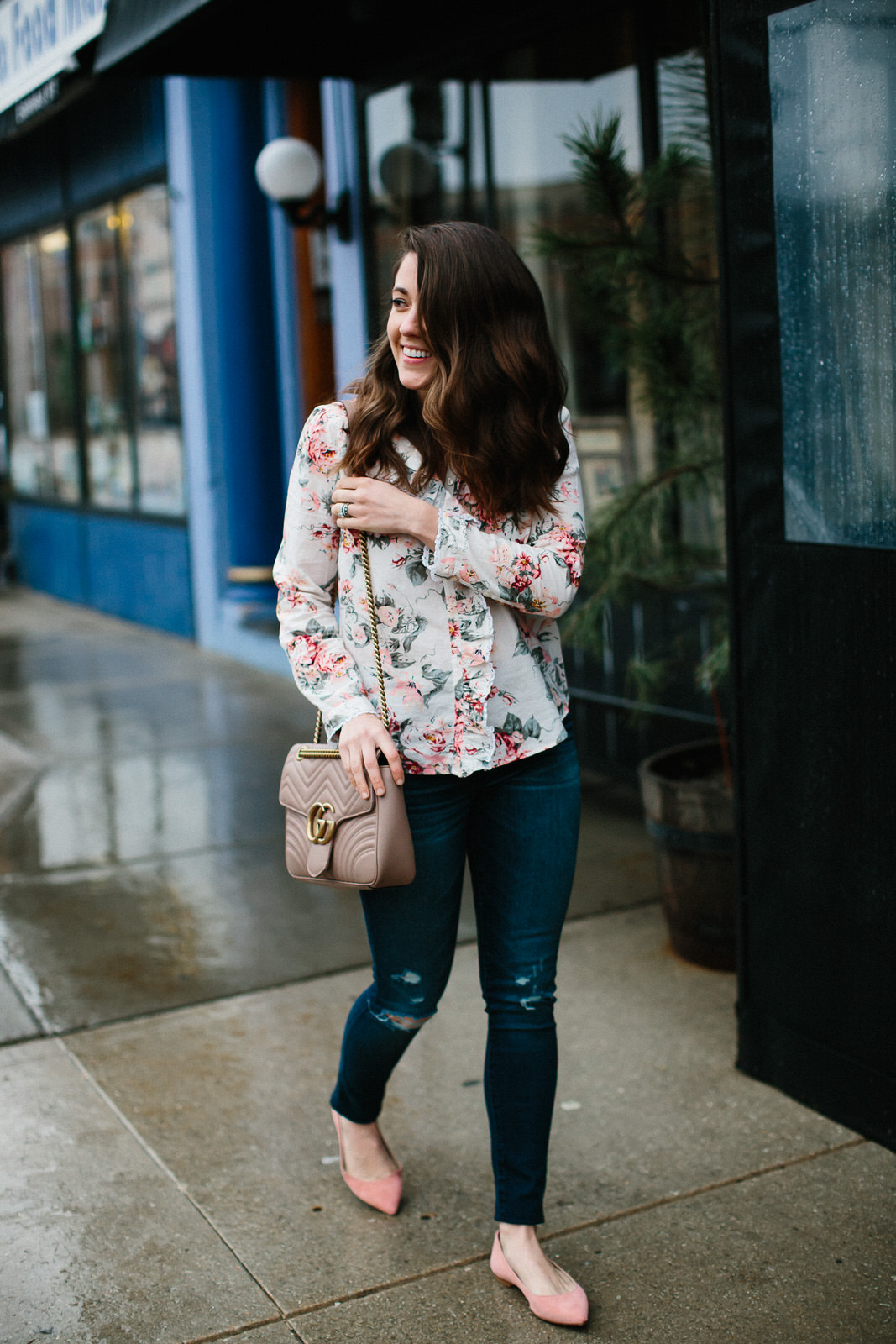 rebecca taylor floral top and abercrombie denim (5 of 15)-1