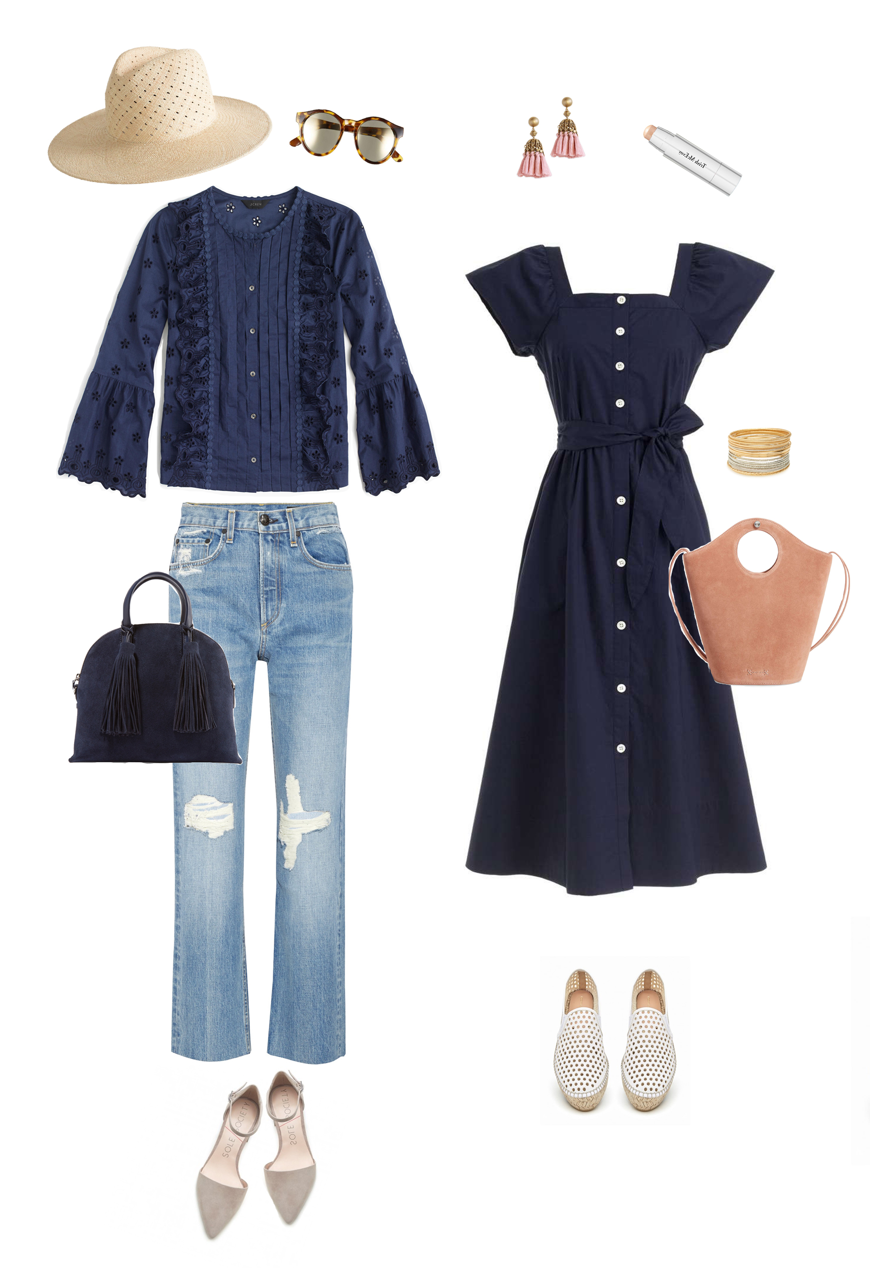 Liz Adams shares end of summer into fall outfit ideas.