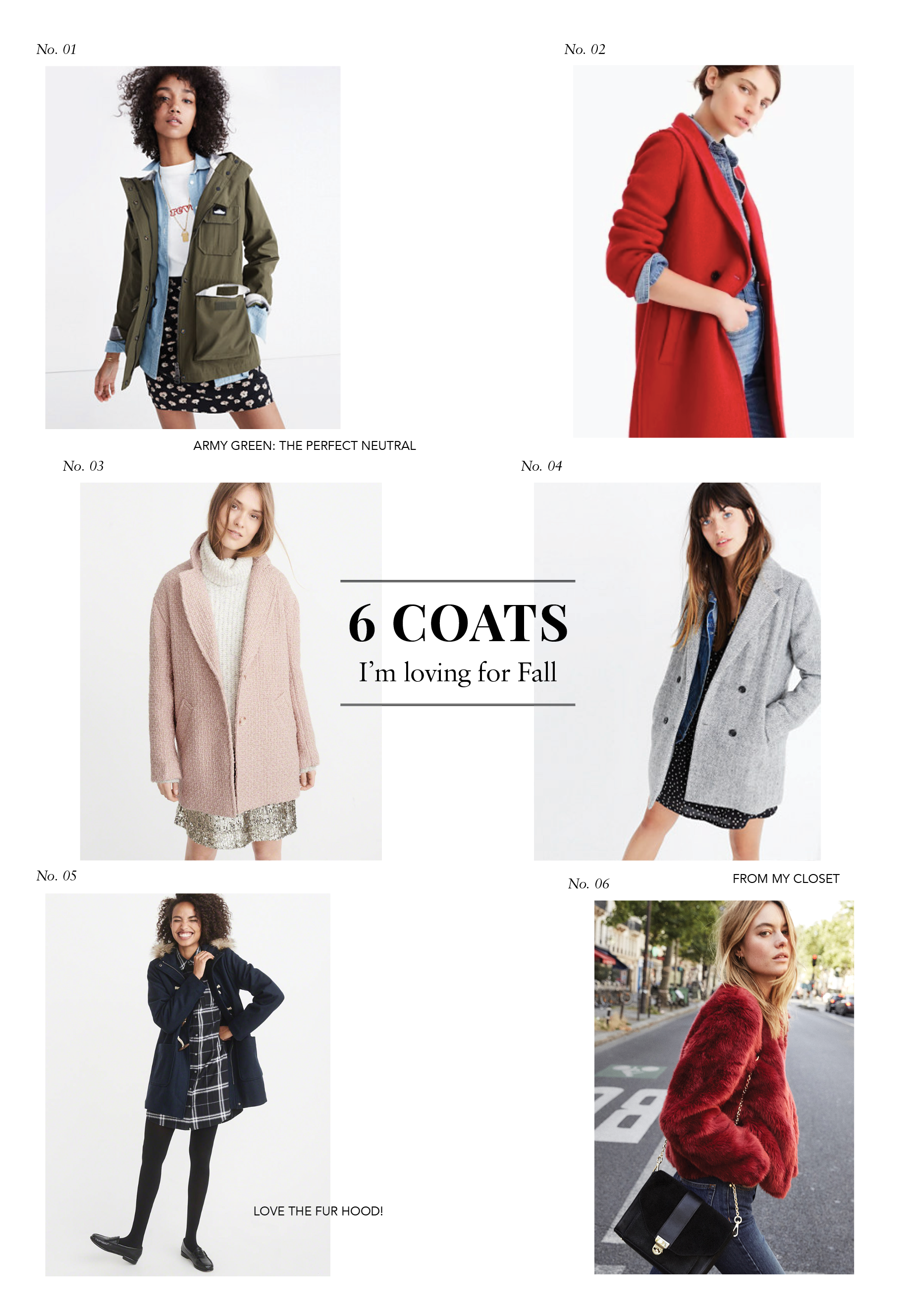 6 fall coats I'm loving for fall under $300.