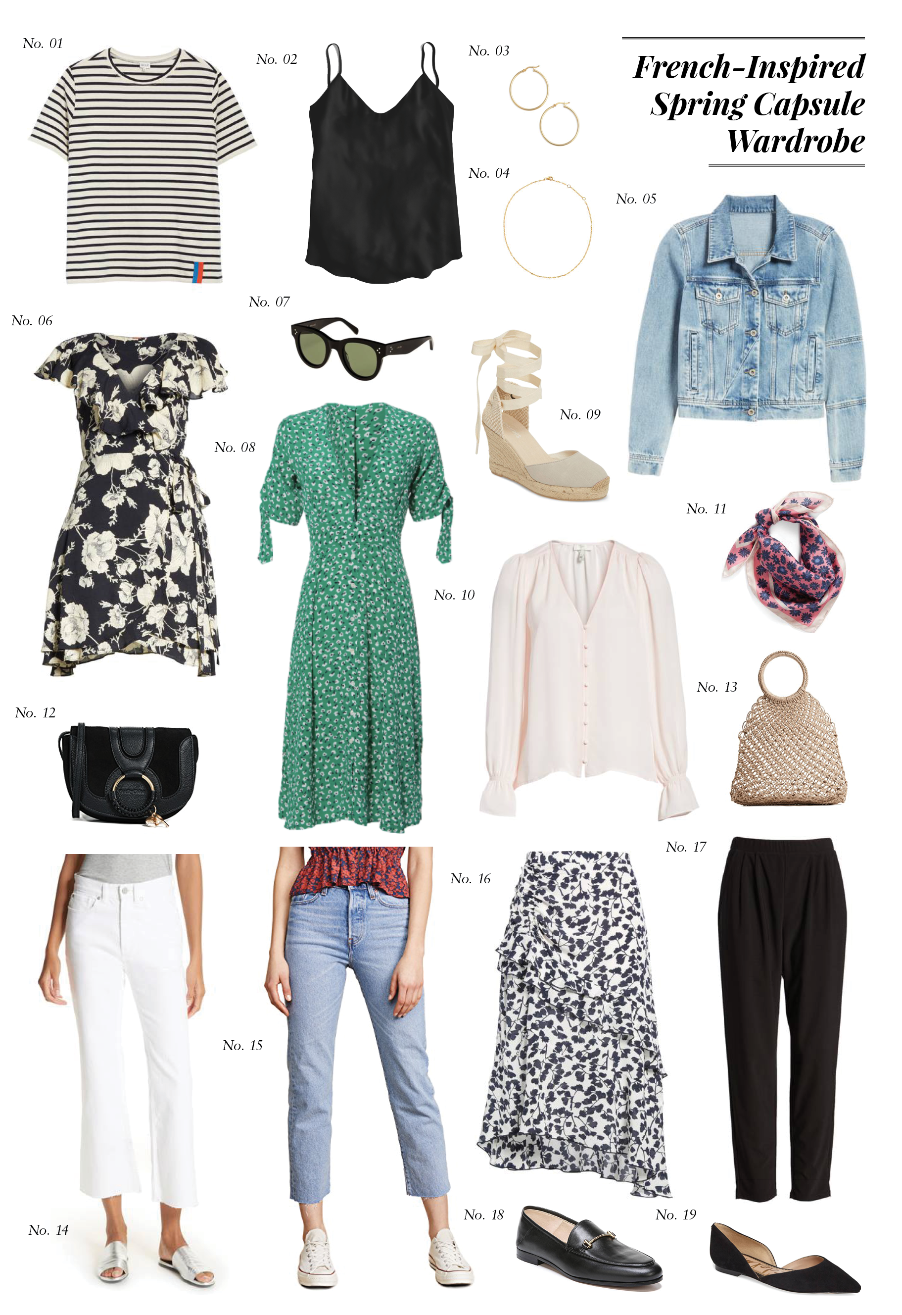 French-Inspired Spring Capsule Wardrobe