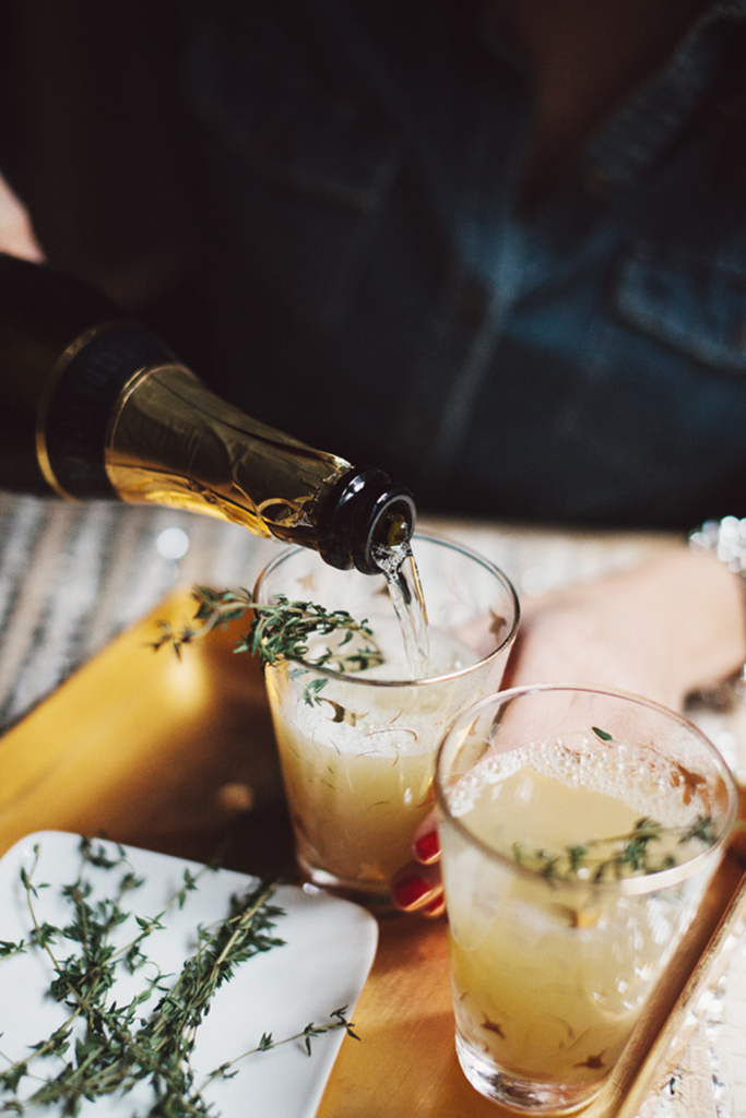 Pear Thyme Mimosa Recipe