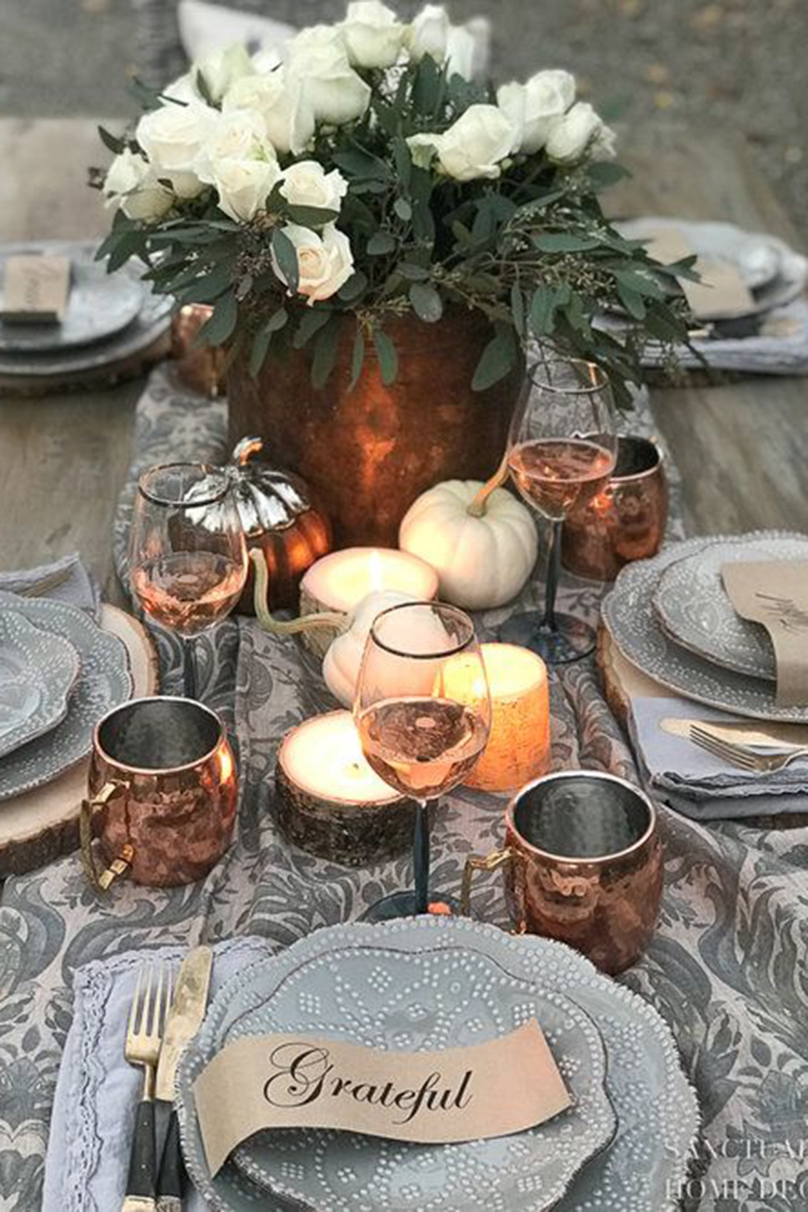 Winter and Fall Table Setting Ideas