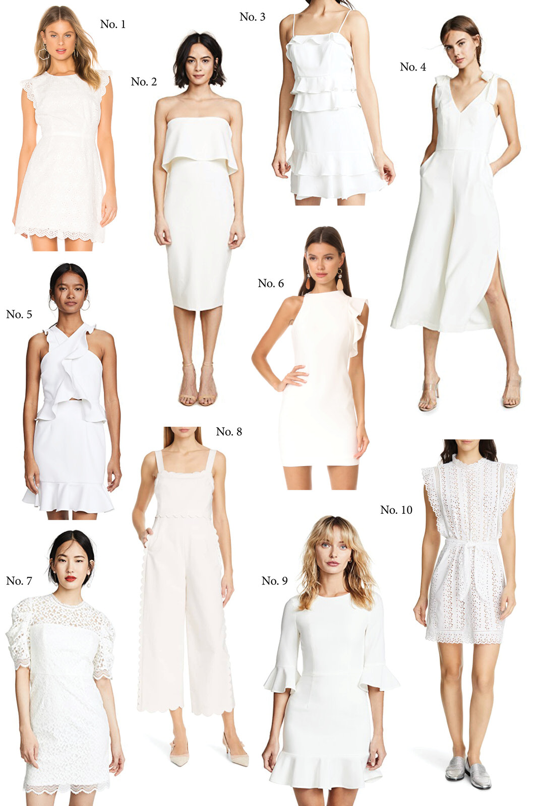 White Dresses for All Your Wedding Events