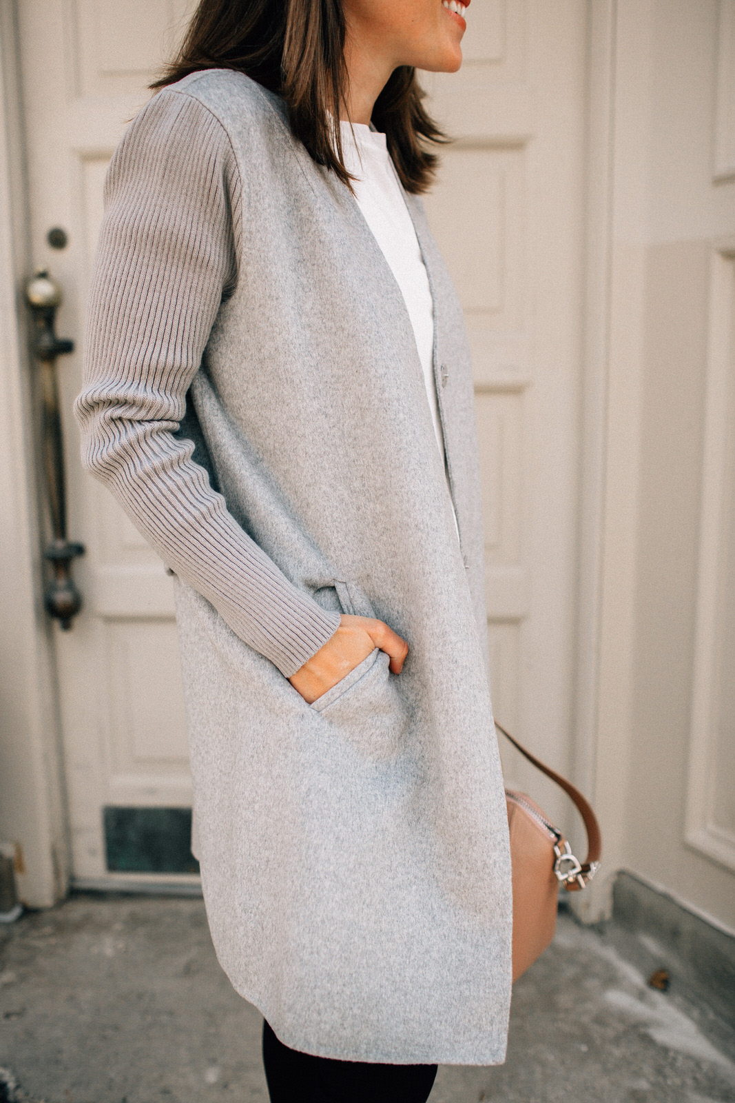 nordstrom anniversary sale outfit grey kenneth cole coat