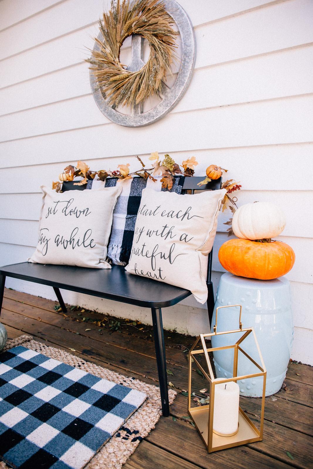 Our Fall Porch Decor Hello Adams Family