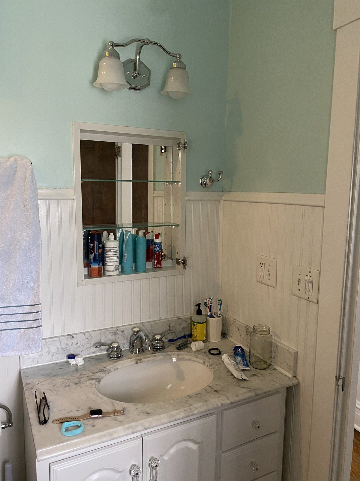Before And After Our Upstairs Bathroom Makeover Hello Adams Family